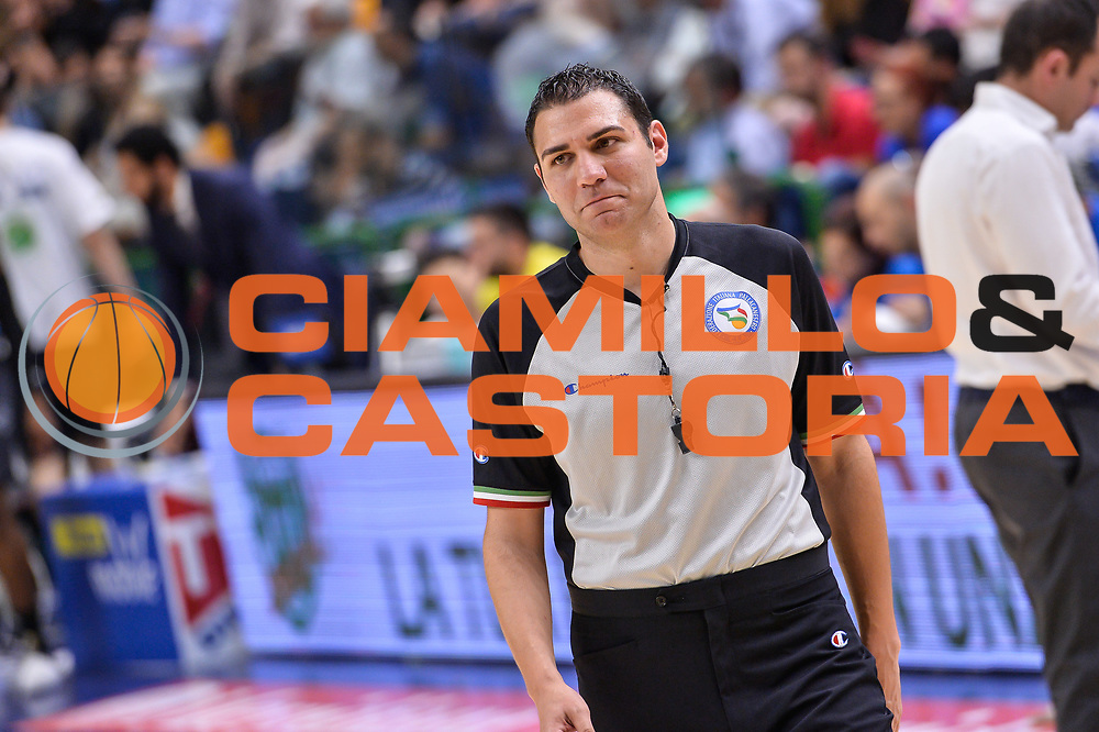 Manuel Attard<br /> Banco di Sardegna Dinamo Sassari - Dolomiti Energia Aquila Basket Trento<br /> Legabasket Serie A LBA Poste Mobile 2016/2017<br /> Playoff Quarti Gara3<br /> Sassari 16/05/2017<br /> Foto Ciamillo-Castoria