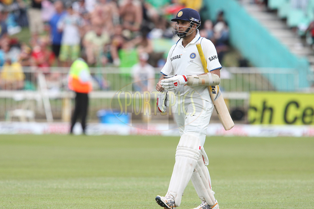 VVS Laxman walks back to the dressing room during day 1 of the second test match between South Africa and India held at Kingsmead Stadium in Durban on Boxing Day, 26th December...Photo by Steve Haag/BCCI/SPORTZPICS