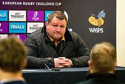 Wasps Director of Rugby Dai Young press conference - Mandatory by-line: Dougie Allward/JMP - 18/01/2020 - RUGBY - Ricoh Arena - Coventry, England - Wasps v Bordeaux-Begles - European Rugby Challenge Cup