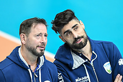 Alberto Giuliani head coach of Slovenia and Alfredo Martilotti before the friendly volleyball match between National Men teams of Slovenia and Netherlands, on Januar 2nd, 2020, in Dvorana Tabor, Maribor, Slovenia. Photo by Milos Vujinovic / Sportida