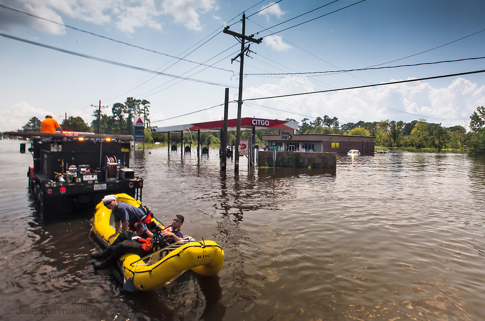 A flooded Citgo gas station in Vidor, Texas, a small town near Beaumont, hit hard by Hurricane Harvey. The water continued to rise on  Sept. 1, after Harvey's rain stopped.