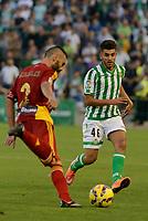 Corcoles (L) and Dani (R) during the match between Real Betis and Recreativo de Huelva day 10 of the spanish Adelante League 2014-2015 014-2015 played at the Benito Villamarin stadium of Seville. (PHOTO: CARLOS BOUZA / BOUZA PRESS / ALTER PHOTOS)