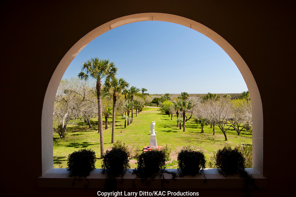 """View of Kennedy Ranch from """"big house"""" at ranch headquarters"""
