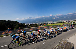Peloton in front of Innsbruck city during the Women's Elite Road Race a 156.2km race from Kufstein to Innsbruck 582m at the 91st UCI Road World Championships 2018 / RR / RWC / on September 29, 2018 in Innsbruck, Austria. Photo by Vid Ponikvar / Sportida