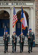 JROTC Color Guard during groundbreaking ceremony at Milby High School, December 18, 2014.