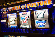 Slot machine in a casino Las Vegas, Nevada.