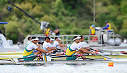 Hamilton, NEW ZEALAND.   AUS M2X. Bow, Nick HUDSON and Jared BIDWELL, moves away from the start in their heat of the Men's double sculls. 2010 World Rowing Championship on Lake Karapiro Monday 01.11.2010. [Mandatory Credit Peter Spurrier:Intersport Images].