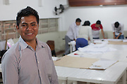 Ivan Abraham Quiñagua Mamani runs a textile workshop which is supported and funded by CAMI, an organistation that supports migrants in  São Paulo, Brazil.<br />