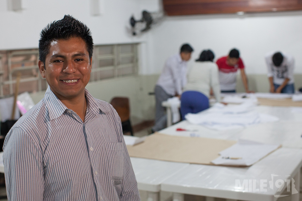 Ivan Abraham Quiñagua Mamani runs a textile workshop which is supported and funded by CAMI, an organistation that supports migrants in  São Paulo, Brazil.<br /> <br /> Each year, CAMI helps over 5,700 people to be legalised in the country. Their courses are attended by 500-700 people annually, while 12,000-14,000 immigrants take part in their events. They also distribute over 60,000 newspapers in the city.