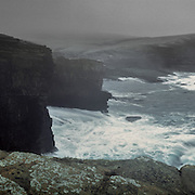 Storms raging over Yesnaby coastline, Orkney