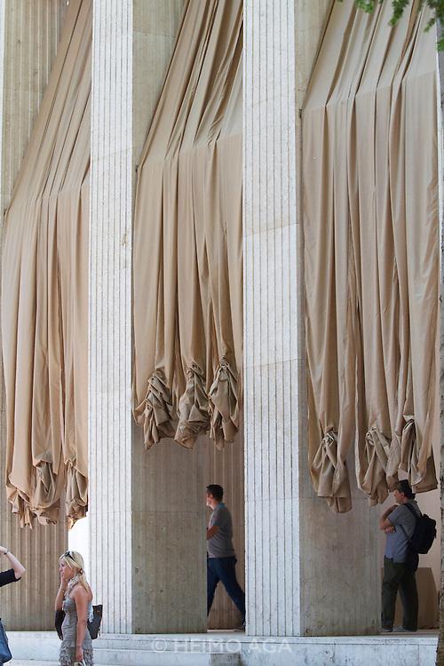 12th Biennale of Architecture. Giardini. German Pavillion entrance.