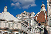 Il Duomo di Firenze, Cathedral of Florence, and the Baptistry in Piazza di San Giovanni, Tuscany, Italy