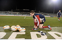17 June 2013; Staurt Hogg, British & Irish Lions, during kickers practice ahead of their game against Brumbies on Tuesday. British & Irish Lions Tour 2013, Kickers Practice,  Canberra Stadium, Bruce, Canberra, Australia. Picture credit: Stephen McCarthy / SPORTSFILE