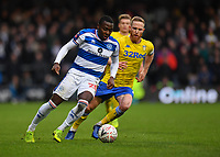 Football - 2018 / 2019 FA Cup - Third Round: Queens Park Rangers vs. Leeds United<br /> <br /> Queens Park Rangers' Bright Osayi-Samuel holds off the challenge from Leeds United's Adam Forshaw, at Loftus Road.<br /> <br /> COLORSPORT/ASHLEY WESTERN