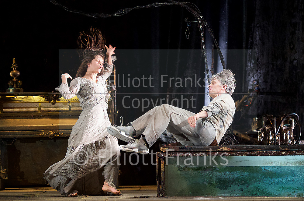 The Toad Knew <br /> James Thierree / Compagnie du Hanneton <br /> at Sadler's Wells, London, Great Britain <br /> Press photocall <br /> 3rd may 2017 <br /> <br /> James Thierree<br /> Sonia Bel Hadj Brahim <br /> <br /> <br /> Photograph by Elliott Franks <br /> Image licensed to Elliott Franks Photography Services