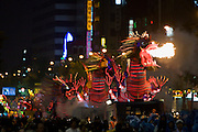 The annual Lotus Lantern Festival is held to celebrate Buddha's Birthday. The big lantern parade from Dongdaemun Stadium to Jogyesa temple. Fire-spitting dragons for good luck.