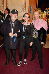 DAVID JASON and his wife GILL with their daughter SOPHIE at the opening night of Amaluna by Cirque Du Soleil at The Royal Albert Hall, London on 19th January 2016.