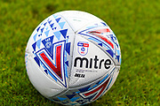 A Mitre delta match football during the Pre-Season Friendly match between Scunthorpe United and Leicester City at Glanford Park, Scunthorpe, England on 16 July 2019.