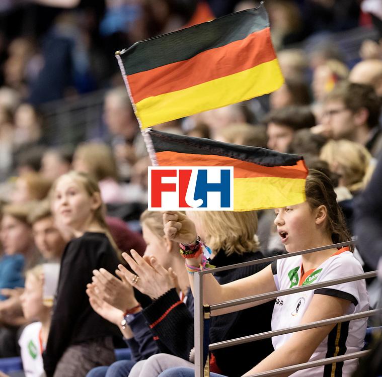 BERLIN - Indoor Hockey World Cup<br /> Women: Czech Republic - Germany<br /> foto: German fans.<br /> WORLDSPORTPICS COPYRIGHT FRANK UIJLENBROEK