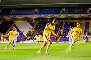 AFC Wimbledon forward Marcus Forss (15), on loan from Brentford, scores a goal and celebrates to make the score 0-1 during the EFL Sky Bet League 1 match between Coventry City and AFC Wimbledon at the Trillion Trophy Stadium, Birmingham, England on 17 September 2019.