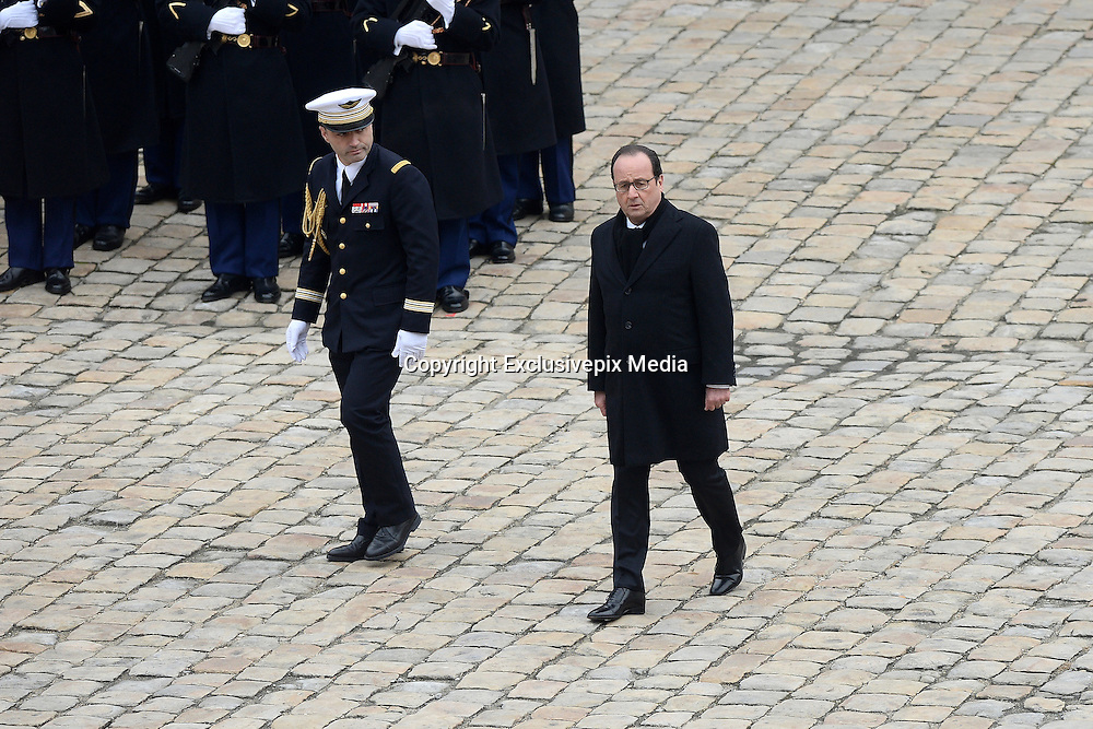 TRIBUTE TO THE VICTIMS OF 13 November 2015 in PARIS<br /> Franaois Hollande<br /> ©Exclusivepix Media