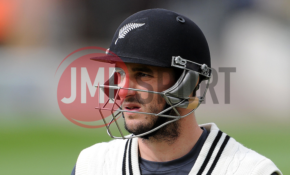 New Zealand's Hamish Rutherford Photo mandatory by-line: Harry Trump/JMP - Mobile: 07966 386802 - 09/05/15 - SPORT - CRICKET - Somerset v New Zealand - Day 2- The County Ground, Taunton, England.