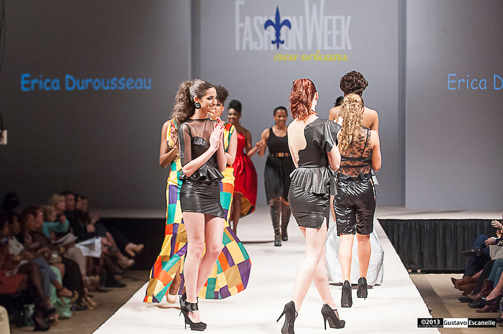 Erica Durousseau showing her collection at Fashion Week New Orleans.