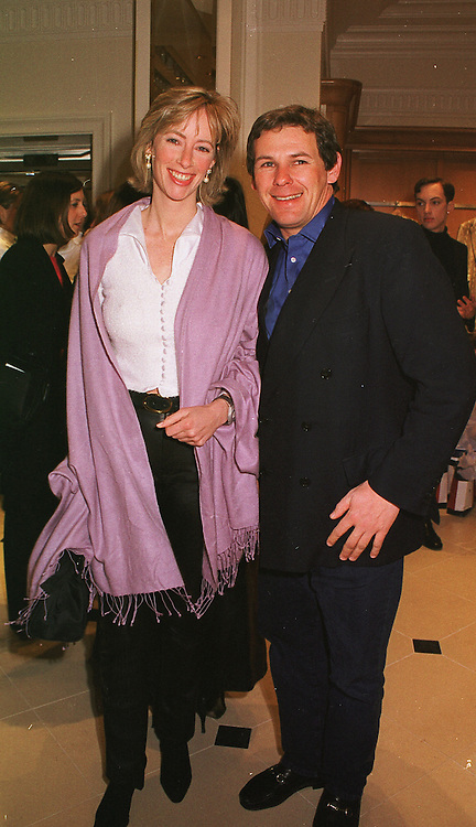MRS ZARA DRAX sister of Tiggy Legge Bourke and MR CHARLIE GORDON-WATSON, at a party in London on 23rd February 1999.MOO 62