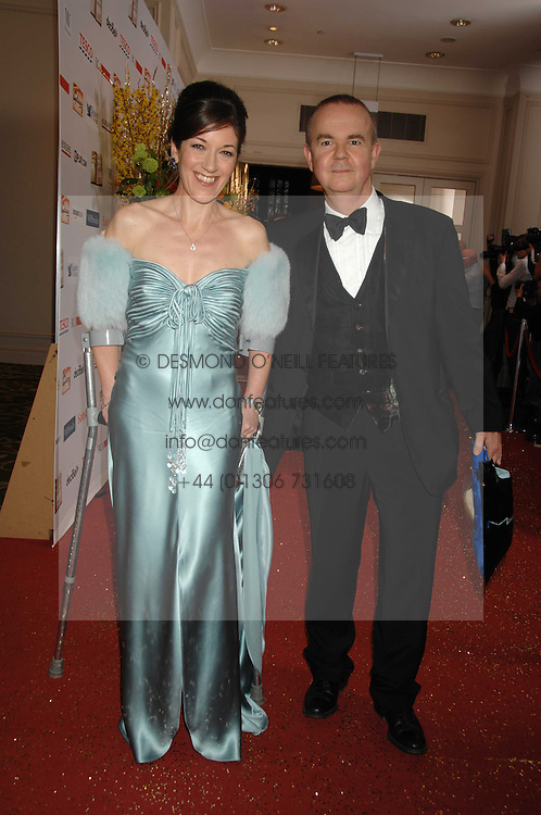 IAN HISLOP and his wife VICTORIA at the Galaxy British Book Awards 2007 - The Nibbies held at the Grosvenor house Hotel, Park Lane, London on 28th March 2007.<br />