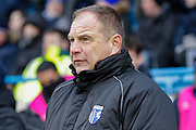 Gillingham manager Steve Lovell during the EFL Sky Bet League 1 match between Gillingham and Wycombe Wanderers at the MEMS Priestfield Stadium, Gillingham, England on 15 December 2018.