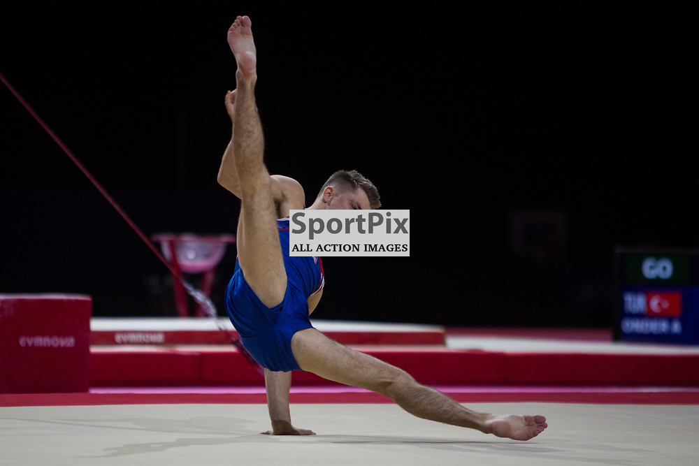 Max Whitlock of Great Britain competes in the Gymnastics Team Men Qualification - 2018 European Championships Glasgow, 9 August 2018. (c) Adam Oliver | sportPix.org.uk