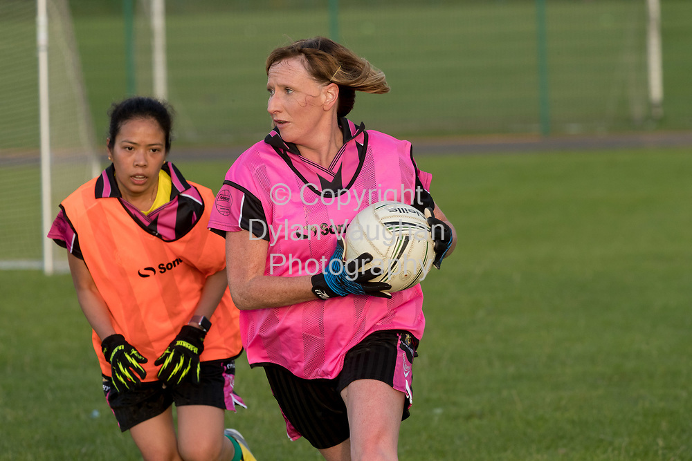 13-7-17<br /> The Ladies football team pictured at Conahy Shamrocks.<br /> <br /> Pictured is from left Rochelle Gonzales and Joanne Lawlor.<br /> <br /> Picture Dylan Vaughan.