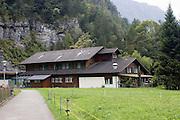 Switzerland, Aar (Aare) River a chalet