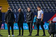 England midfielder Declan Rice (West Ham) and England defender Harry Maguire (Leicester City) looks around the stadium during the England walk around the pitch ahead of the Nations League Semi-Final against Holland at Estadio D. Afonso Henriques, Guimaraes, Portugal on 5 June 2019.