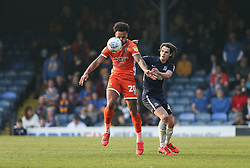 Aaron Holloway of Shrewsbury Town controls the ball under pressure from Sam Hart of Southend United - Mandatory by-line: Arron Gent/JMP - 30/03/2019 - FOOTBALL - Roots Hall - Southend-on-Sea, England - Southend United v Shrewsbury Town - Sky Bet League One