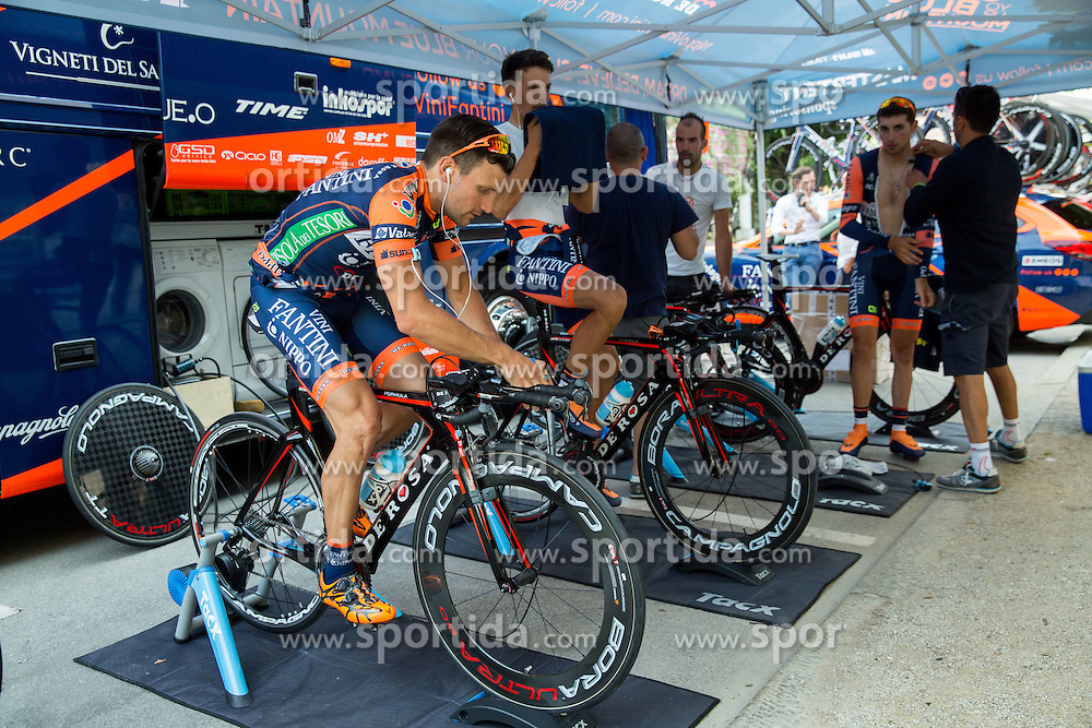 Riders of  Nippo - Vini Fantini at warming up during Stage 1 of 22nd Tour of Slovenia 2015 - Time Trial 8,8 km cycling race in Ljubljana  on June 18, 2015 in Slovenia. Photo by Vid Ponikvar / Sportida