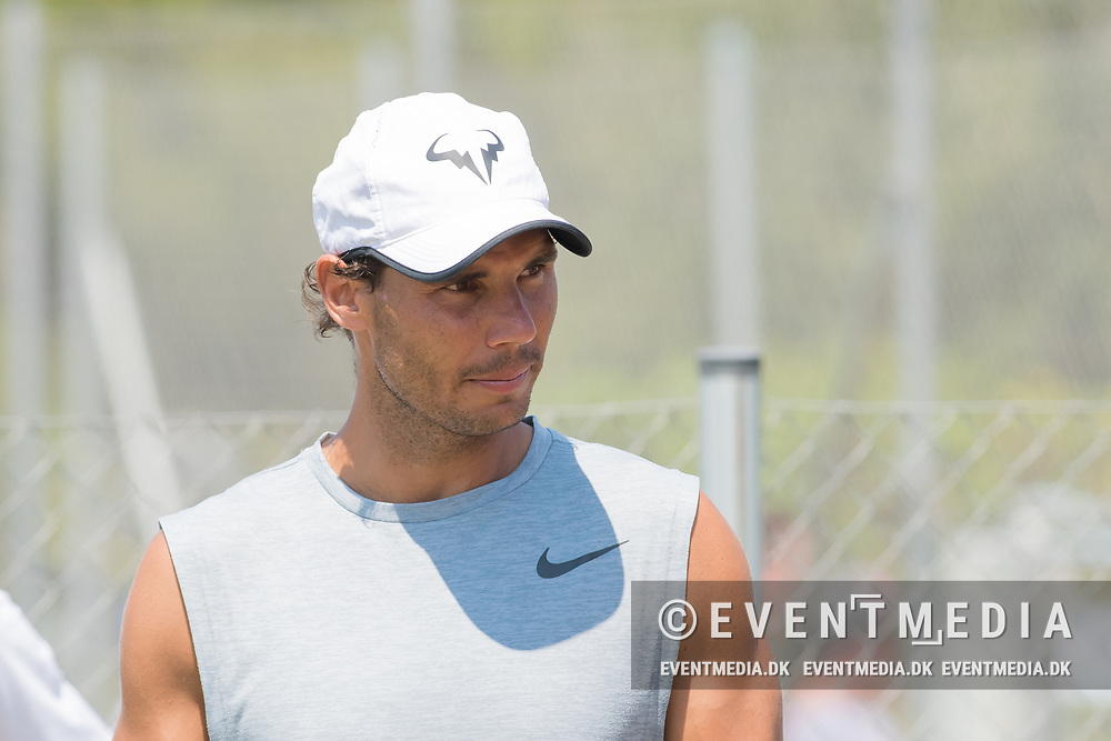Rafael Nadal (ESP) practicing during the Mallorca Open at Country Club Santa Ponsa on June 22, 2018 in Mallorca, Spain. Photo Credit: Katja Boll/EVENTMEDIA.