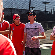 27 March 2018: The San Diego State mens tennis team hosts Eastern Washington Tuesday afternoon. <br /> More game action at sdsuaztecphotos.com