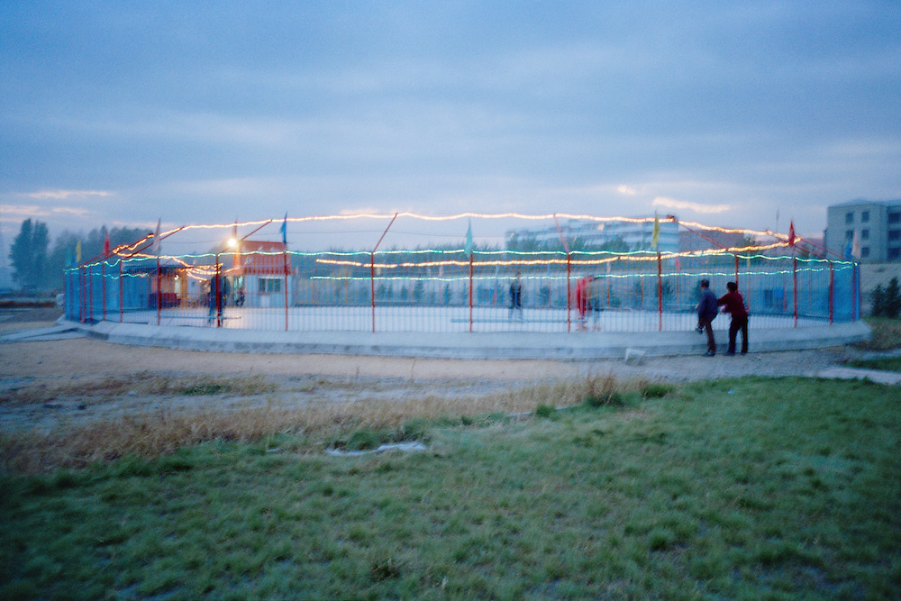 Skating ring. Sino Russian North-Korean Tri-border. Hunchun, China. 2002