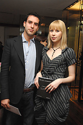 CHARLES DORFMAN and MARINA KACHALOVA at a Valentine's Party in aid of Chickenshed held at De Beers, 50 Old Bond Street, London W1 on 6th Fbruary 2008.<br />