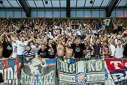 Torcida, fans of Hajduk after the First Leg football match between FC Luka Koper and HNK Hajduk Split (CRO) in Second qualifying round of UEFA Europa League, on July 16, 2015 in Stadium Bonifika, Koper, Slovenia. Photo by Vid Ponikvar / Sportida