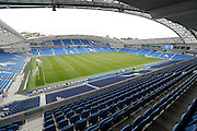 A general view of the American Express Community Stadium before the EFL Sky Bet Championship match between Brighton and Hove Albion and Brentford at the American Express Community Stadium, Brighton and Hove, England on 10 September 2016.