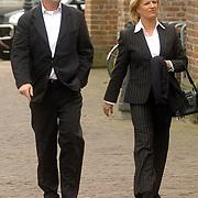 NLD/Utrecht/20060414 - Uitvaart Wout van Doleweerd, Anita Meijer en exman en manager Ton de Leeuwe