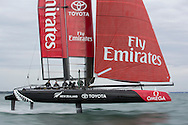Image licensed to Lloyd Images <br /> Pictures of Emirates Team New Zealand Americas Cup team shown here training in the UK onboard their new AC45 foiling cup boat, prior to the start of the World series next month.<br /> Credit: Lloyd Images/ETNZ