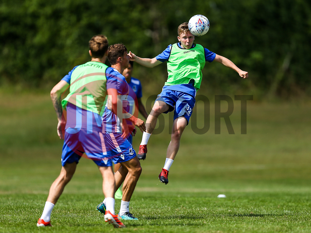 Luke Russe in action during a Bristol Rovers pre-season training session ahead of the 2017/18 Sky Bet League One Season - Rogan/JMP - 07/07/2017 - FOOTBALL - The Lawns Training Ground - Bristol, England.