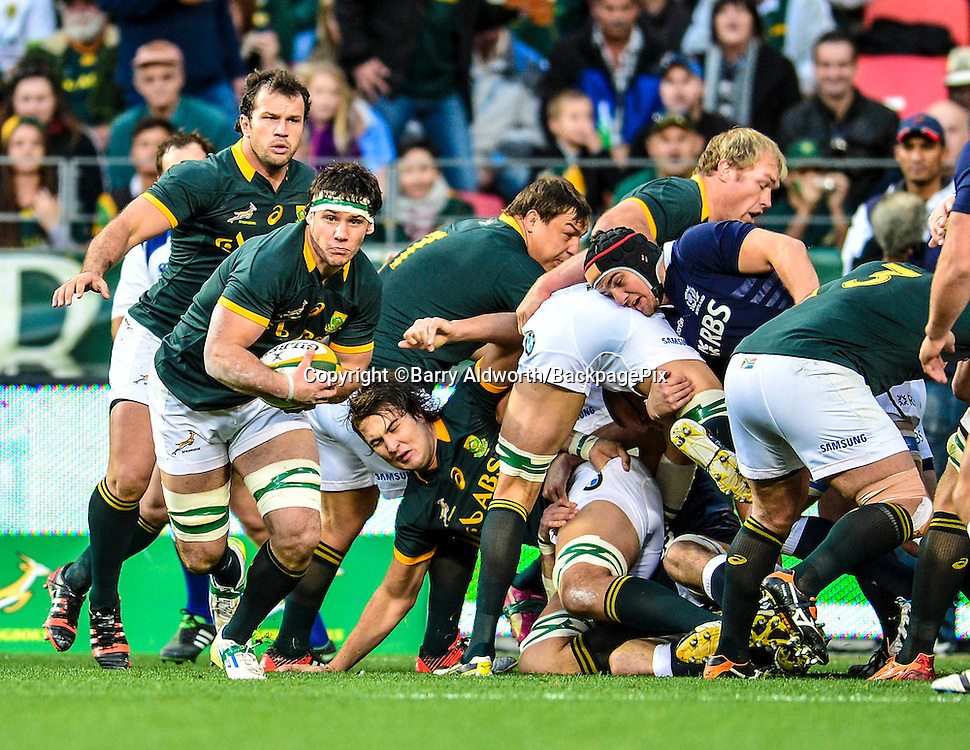 Marcell Coetzee of South Africa during the 2014 Castle Lager Incoming Series rugby test match between South Africa and Scotland at the Nelson Mandela Bay Stadium in Port Elizabeth, South Africa on June 27, 2014 ©Barry Aldworth/BackpagePix