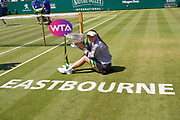CAPTION CORRECTION Caroline Wozniacki (DEN) Beats Aryna Sabalenka (BLR) at the Nature Valley International at Devonshire Park, Eastbourne, United Kingdom on 30th June 2018. Picture by Jonathan Dunville.