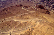 The snakepath that leads up to the hill top site, Masada national park, Israel