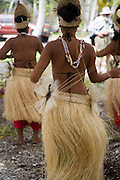 Polynesian dancers, Fakarava, Tuamotu Islands, French Polynesia<br />