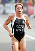 New Zealand triathlete Samantha competes in the Women's Triathlon race on Day 3 of the XVIII Commonwealth Games at St.Kilda, Melbourne, Australia on Saturday 18 March, 2006. Photo: Sport the Library / www.photosport.nz
